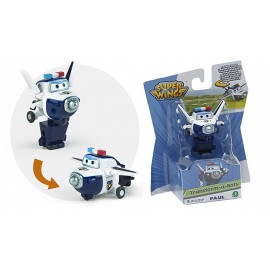 Giochi Preziosi - Super Wings  Paul, Aereo Robot Personaggio Trasformabile Articolato, Alto 5 Cm