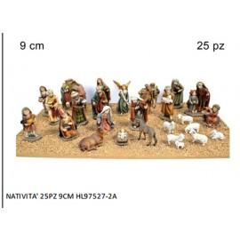 STATUINE PRESEPE ASSORTIMENTO NATIVITA'  9 presepe di natale - NATIVITA' SET DA 25 PEZZI - 1 scatola - VERSIONE CON PIU' RIFINITURE ADATTO A CHI REALIZZA PRESEPI ANCHE DA RIVENDERE 7651ASSORTIMENTO 8PEZZI  VERSIONE ECONOMICA  ADATTO A CHI REALIZZA PRESEPI