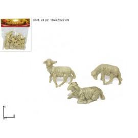 Pecore in busta varie posizioni 24 pz 5 cm