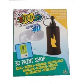 RICARICA - RECAMBIOS - RECHARGE - PENNA I DO 3D - IDO3D 3d print shop 1 colore GIALLO inchiostro e 1 pezzo di Formula 4D per creare il tuo stampo