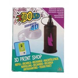 RICARICA - RECAMBIOS - RECHARGE - PENNA I DO 3D - IDO3D 3d print shop 1 colore VIOLA  inchiostro e 1 pezzo di Formula 4D per creare il tuo stampo