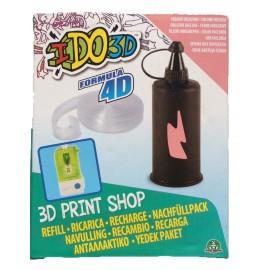 RICARICA - RECAMBIOS - RECHARGE - PENNA I DO 3D - IDO3D 3d print shop 1 colore ROSA  inchiostro e 1 pezzo di Formula 4D per creare il tuo stampo