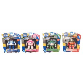ROBOCAR POLI SERIE COMPLETA 4 PERSONAGGI  - POLI  - AMBER - ROY - HELLY - 83056 MAGICAL FIGURINE - PLAY AND FUN -