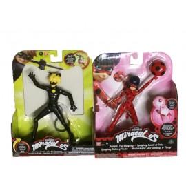 Miraculous Personaggio Deluxe con Funzione, 19 cm, Cat Noir + Miraculous Personaggio Deluxe con Funzione, 19 cm, Ladybug - offerta 2 pezzi come foto