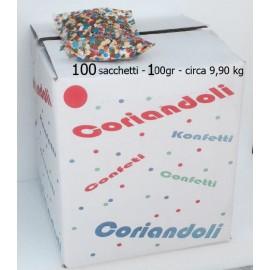 Coriandoli in sacchetto da 100 gr offerta scatola 100 pz come foto. konfetti - confetti - kontettis - confeti - coriandoli totale circa 9,90 kg - 10 kg