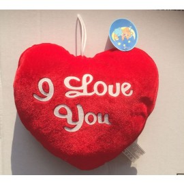 Peluche Cuore con scritta - I Love You -