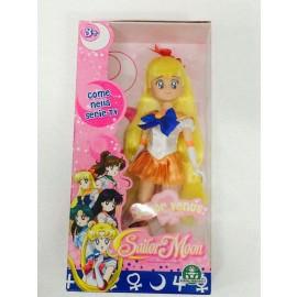 Sailor Moon - Bambola Sailor Venus da collezione  25 cm circa di Giochi Preziosi