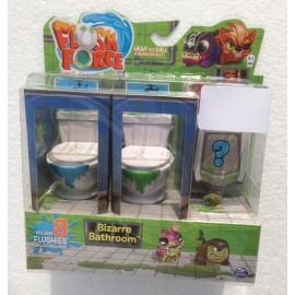 FLUSH FORCE WC FLUCH TO REVEAL MODELLO MACCHIA WC VERDE SUL WC E WC BLUE  - da 8 Flushies - COME FOTO