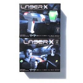Giochi Preziosi - Laser-X Blaster, Real-Life , con 4  pistole, 4 ricevitori, Luci e Suoni' COLPISCI FINO A 30 MT- OTTIMO REGALO PER GIOCARE CON GLI AMICHETTI-