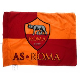 BANDIERA UFFICIALE  AS.ROMA ufficiale football club AS.ROMA  - 100% POLIESTERE  misure 100X140 CIRCA