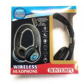 CUFFIE X TELEFONO , PC, ECC.... - MICROFONO INCORPORATO - HEDDPHONE - HI-TECH BONTEMPI PERSONALIZZATO  - NERO - GRIGIO SCURO - CON LED  - CONNECT IT TO YOUR SMARTPHONE , PC....... AND PLAY YOUR MUSIC! CON LUCI LED