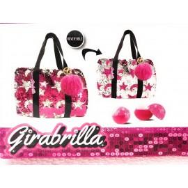 Girabrilla Zaino SPORT BAG COLORE FUCSIA - ROSA -  novità colori reversibili  - Girabrilla di Nice 02532