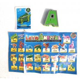 LETRABOTS - LETRANIMAL - IL TUO ROBOT A FORMA DI ANIMALE ARMOR STEGOSAURUS LETTERA ( A ) - CARD INCLUSA - CICABOOM
