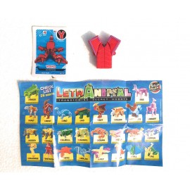 LETRABOTS - LETRANIMAL - IL TUO ROBOT A FORMA DI ANIMALE YOYO ASTACIDAE LETTERA ( Y )  - CARD INCLUSA - CICABOOM