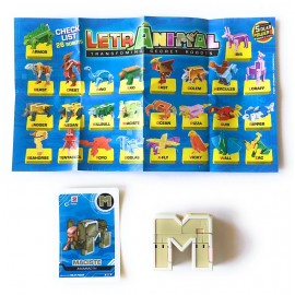 LETRABOTS - LETRANIMAL ROBOT A FORMA DI ANIMALE MACISTE MAMMOTH  LETTERA ( M )  - CARD INCLUSA - CICABOOM