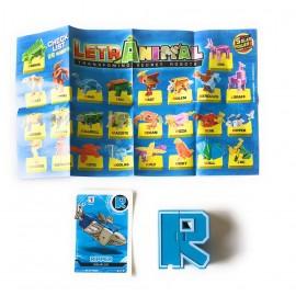 LETRABOTS - LETRANIMAL ROBOT A FORMA DI ANIMALE RIPPER SQUALUS LETTERA ( R ) - CARD INCLUSA - CICABOOM