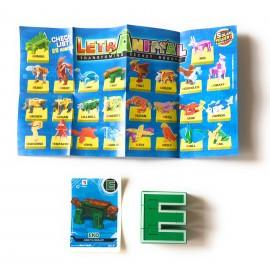 LETRABOTS - LETRANIMAL ROBOT A FORMA DI ANIMALE EKO ANKYLOSAUR  LETTERA ( E )  - CARD INCLUSA - CICABOOM