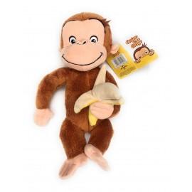 Peluche Curioso Come George nuovo con banana 30 CM circa originale di Famosa