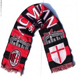 Sciarpa Milan Jaquard Ufficiale -Scritta - AC Milan Stadio San Siro - 140 X20 CM circa