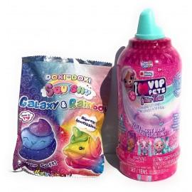 I Love VIP Pets - 2° serie VIP Pets Glitter Twist Gli Originali Modello con beccuccio Azzurro Glitterato collezzionabile  + Omaggio Come Foto