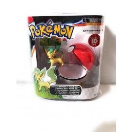 Pokemon Clip N Carry Pokeball LEAFEON + POKE BALL