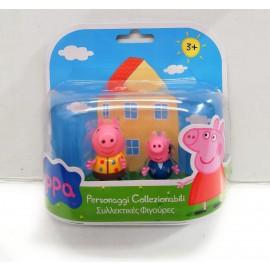 Peppa Pig - Coppia Personaggi George e Peppa Pig di Giochi Preziosi CCP02821