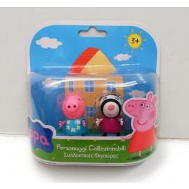 Peppa Pig - Coppia Personaggi Zoe Zebra e Peppa Pig di Giochi Preziosi CCP02821
