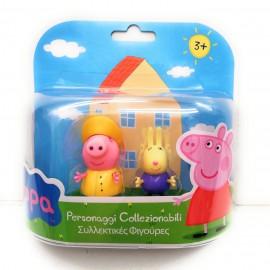 Peppa Pig - Coppia Personaggi Richard coniglio e Peppa Pig