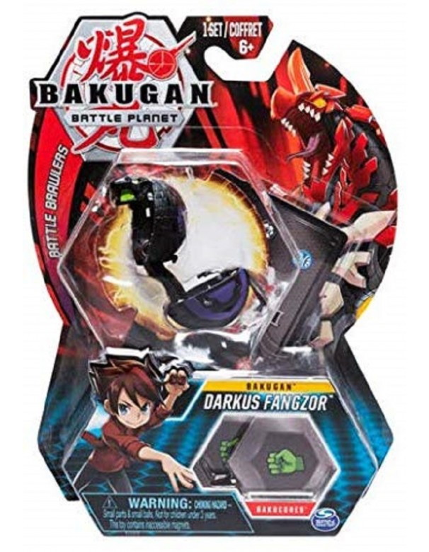 BAKUGAN ORIGINALE - 5cm Tall Action Figure e Trading Card - Darkus Fangzor MODELLO COBRA
