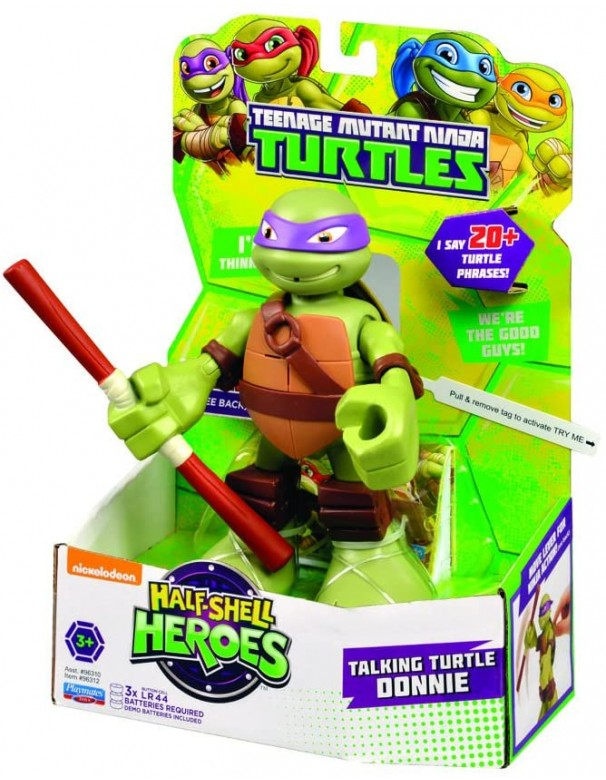 Turtles Don Half-Shell Heroes Talking Tech Figure DONATELLO
