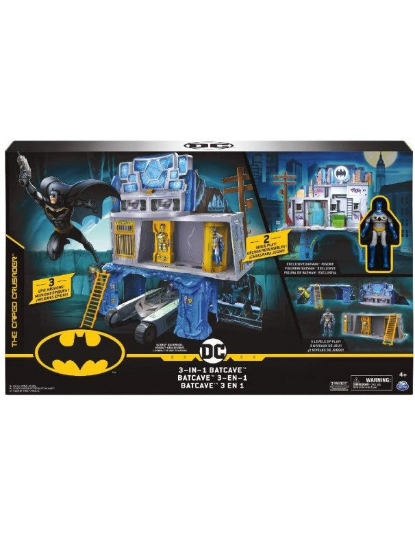 BATMAN Playset Batcaverna 3 In 1 di Spin Master 6058292