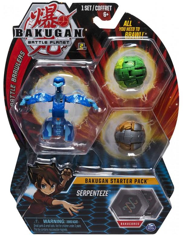Bakugan NWE Serie Formata da 3 Bakugan Starter Pack Bakugan SEPENTEZE