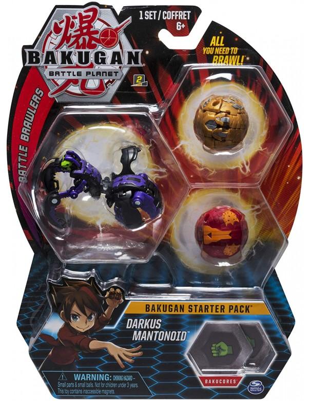 Bakugan NWE Serie Formata da 3 Bakugan Starter Pack Bakugan DARKUS MANTONOID