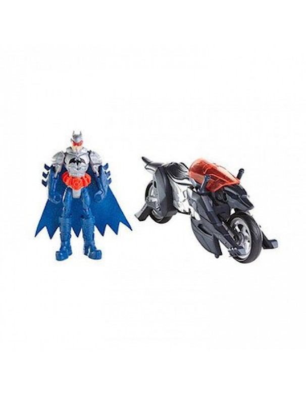 Batman Figura + Moto Lupo di Mattel CDN81