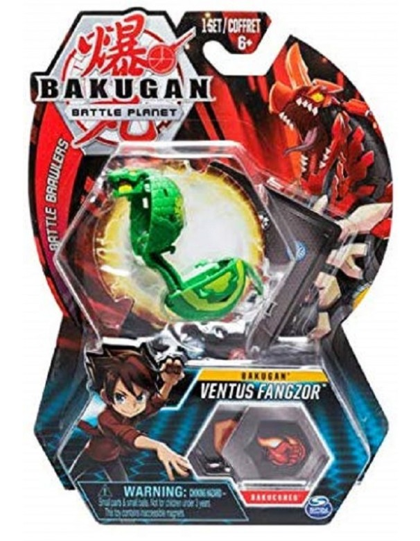 BAKUGAN ORIGINALE - 5cm Action Figure e Trading Card - Ventus Fangzor MODELLO COBRA