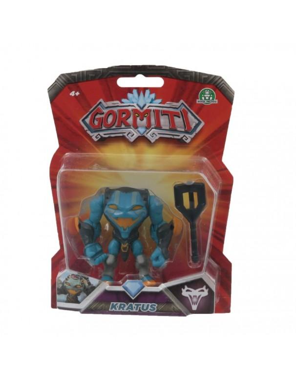 Gormiti Kratus Personaggio Articolato con Token,8 cm di Giochi Preziosi GRM13000