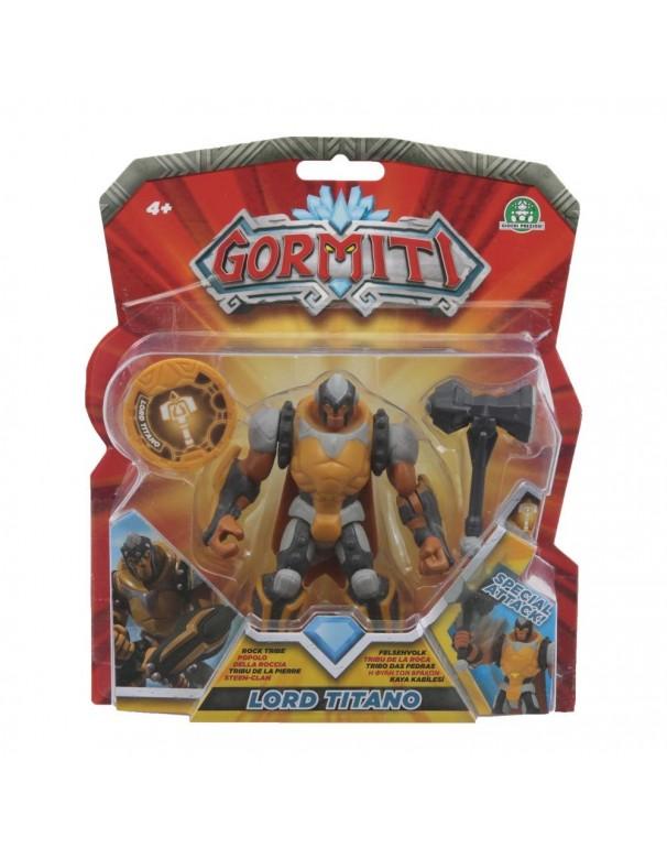 Gormiti Deluxe Personaggio Titano con Funzione attacco rotante, 12 cm di Giochi Preziosi GRM02000