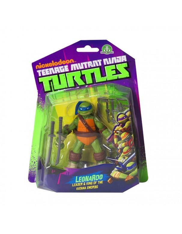 Turtles Personaggio Base Leonardo, 10 cm teenage mutant ninja