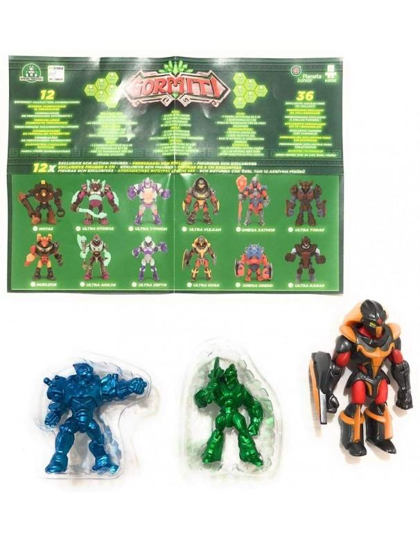 Gormiti Mistery Box Edizione Speciale 12 : Ultra Koga 8 cm + Ultra Lord Electrion e Ultra Akilos 4-5cm Colori Speciali