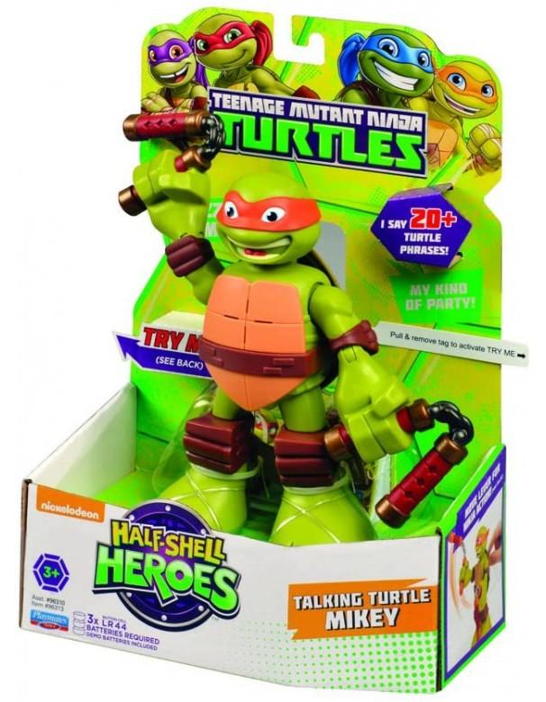 Turtles Mike Half-Shell Heroes Talking Tech Figura MICHELANGELO