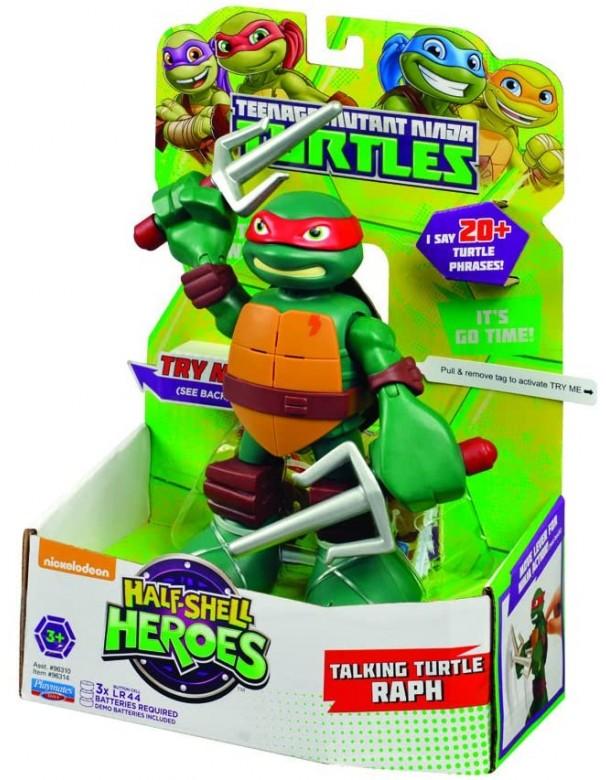 Turtles Raph Half-Shell Heroes Talking Tech Figure RAFFAELLO