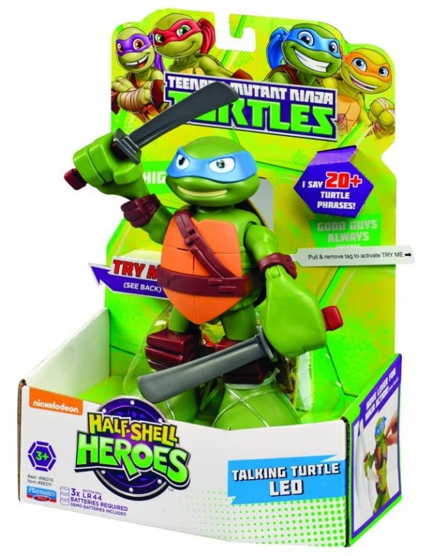 Turtles Leo Half-Shell Heroes Talking Tech Figura LEONARDO