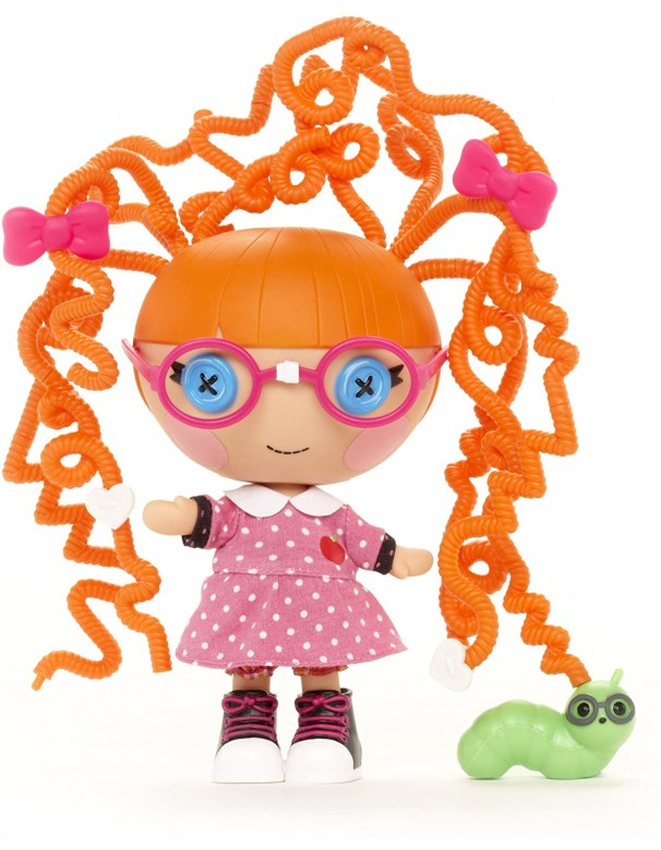 MGA Lalaloopsy Littles - Silly Hair - Specs Reads-a-Lot - Bambola Hairstyle 20cm  GPZ 20252