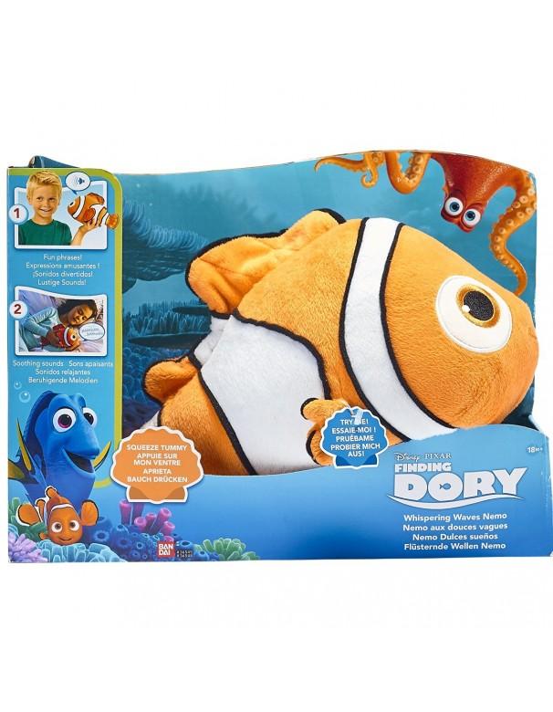 DORY - NEMO INTERATTIVO DOLCENANNA PELUCHE CON SUONI Finding Nemo Dory Whispering onde peluche BANDAI 36458