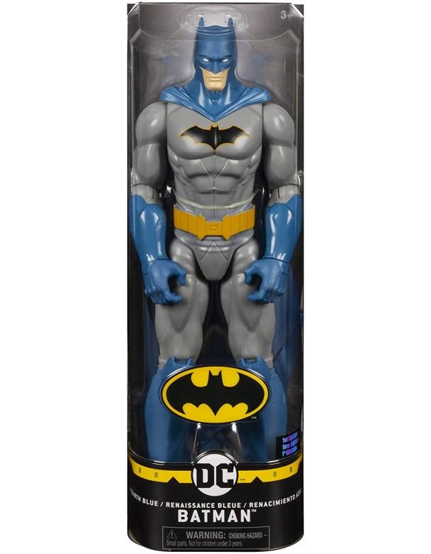 BATMAN Personaggio da 30 cm Articolato, Versione Grigio/Blu, Spin Master 6055153