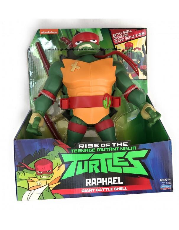 Turtles Giant Battle Shell Raphael 81450 81455 - Tartaruga Ninja Raffaello Gigante 30 cm con guscio segreto x armi